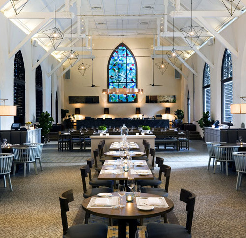 The White Rabbit Restaurant & bar in Singapore – a converted  chapel