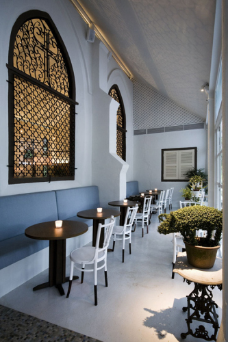 The White Rabbit Restaurant & bar in Singapore – a converted  chapel2