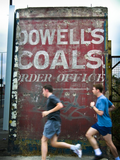 "Ghost sign, ""Dowell's Coals"", London SE10"